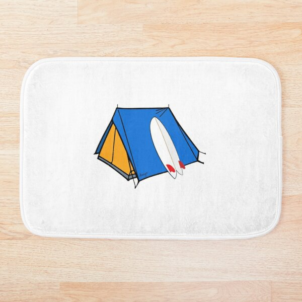 Surfing camp design Bath Mat