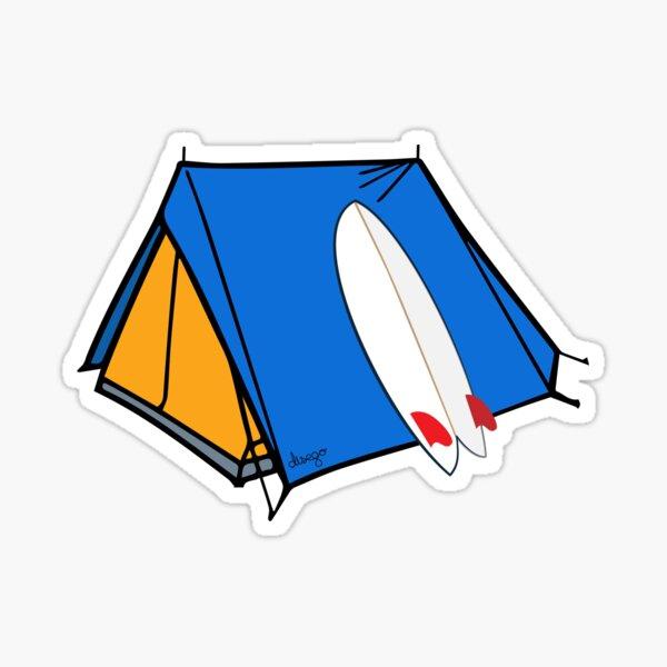 Surfing camp design Sticker