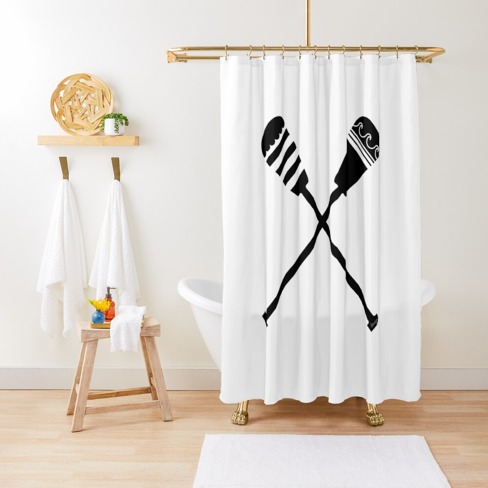 Rowing design Shower Curtain
