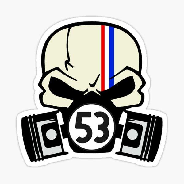 Herbie Skull et pistons Sticker