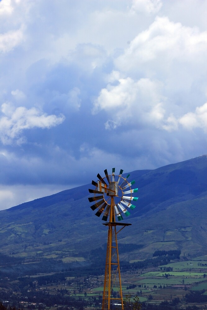 Windmill in the Mountains by rhamm