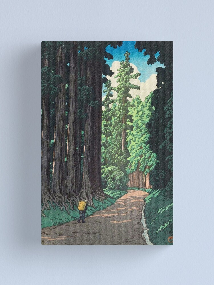 Alternate view of Nikkô gaidô - Hasui Kawase Canvas Print