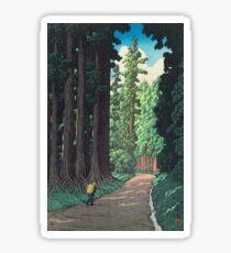 Nikkô gaidô - Hasui Kawase Sticker