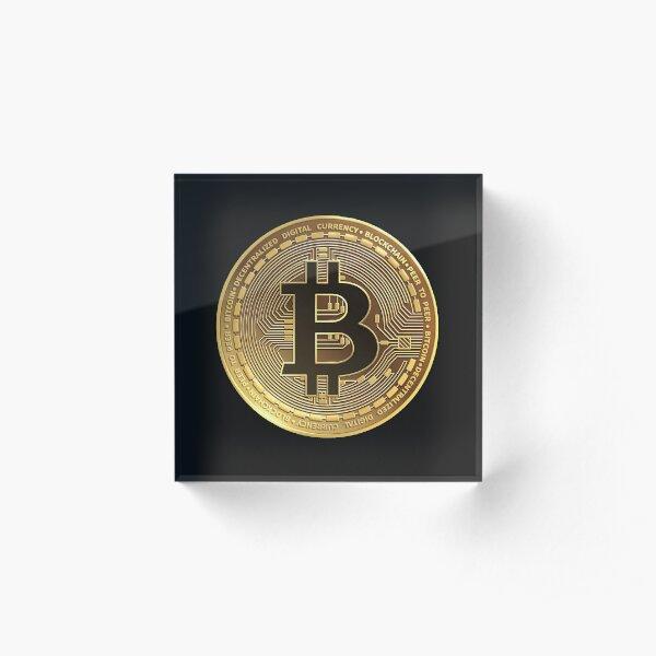 Bitcoin - Gold Coin Graphic Acrylic Block