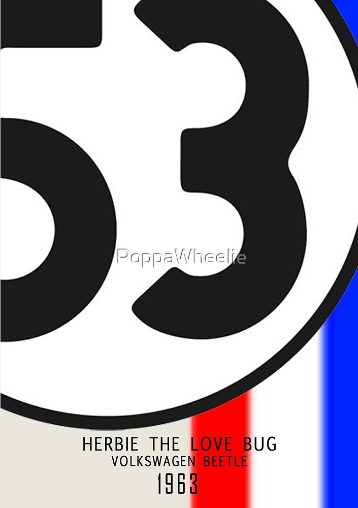 Herbie Minimal Poster by PoppaWheelie