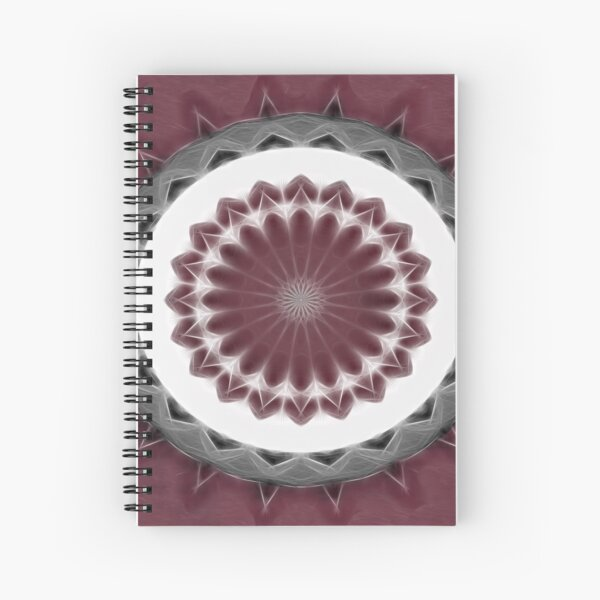 Mauve Kaleidoscope Art 1 Spiral Notebook
