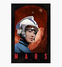 Mars One Retro Sci-Fi Astronaut Photographic Print