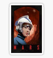 Mars One Retro Sci-Fi Astronaut Sticker
