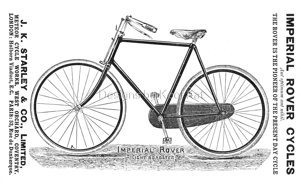 Imperial Rover Light Roadster Vintage Antique Bicycle Ad by Framerkat