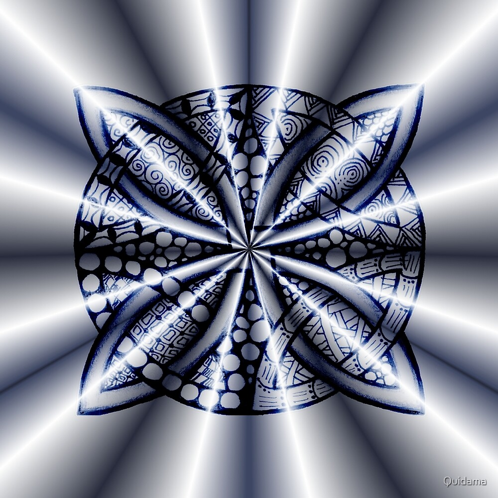 Blue Metallic Celtic Knot by Quidama