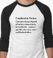 Gina's Canberra Turkeys Men's Baseball ¾ T-Shirt