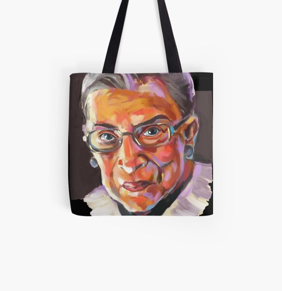 Supreme Court Justice Ruth Bader Ginsburg All Over Print Tote Bag
