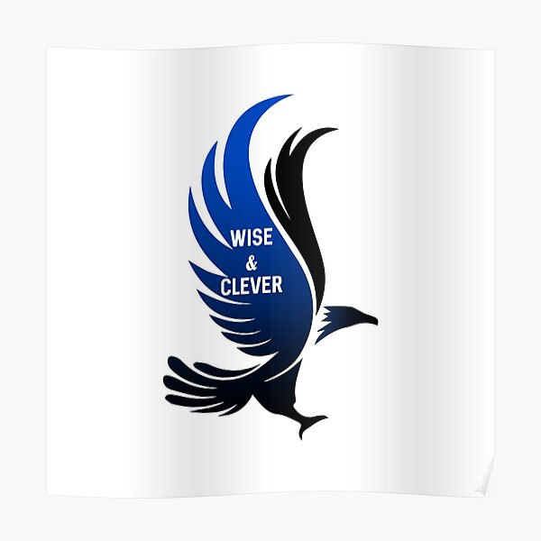 Águila azul sabia e inteligente HARRYPOTTER 2 Póster