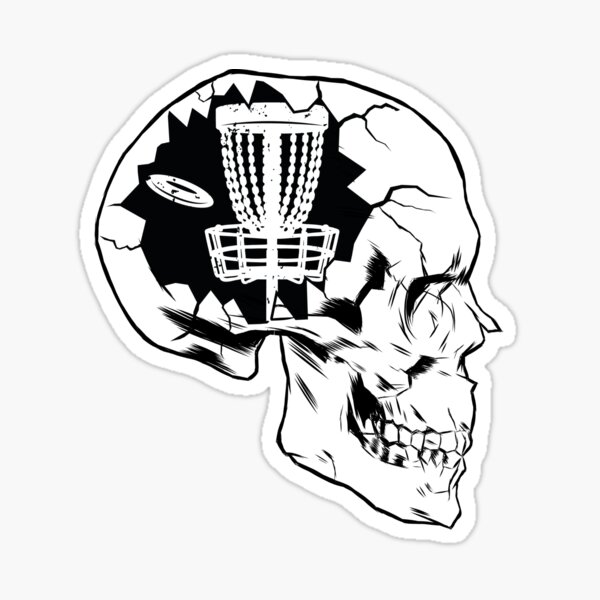 Thinking About Disc Golf, Frolf Player Gift Sticker