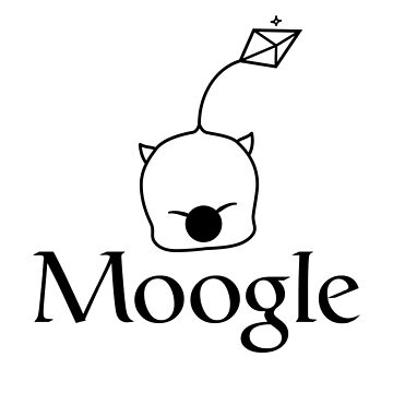 When in doubt, Moogle it! (black version) by meliebel