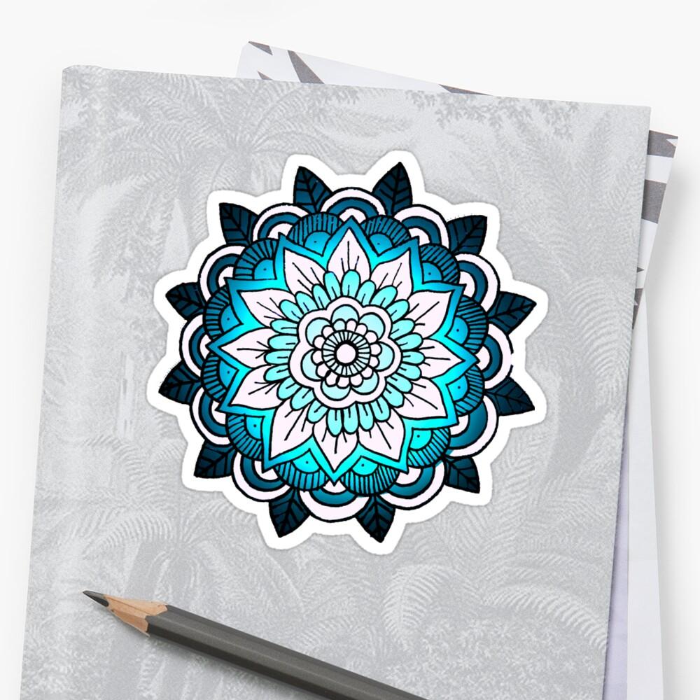 mandala: bright blue by MRLdesigns