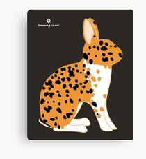 Black Spotted Japanese Rabbit Canvas Print