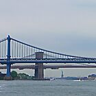 Brooklyn & Manhattan Bridges & the Statue of Liberty by Margaret  Hyde