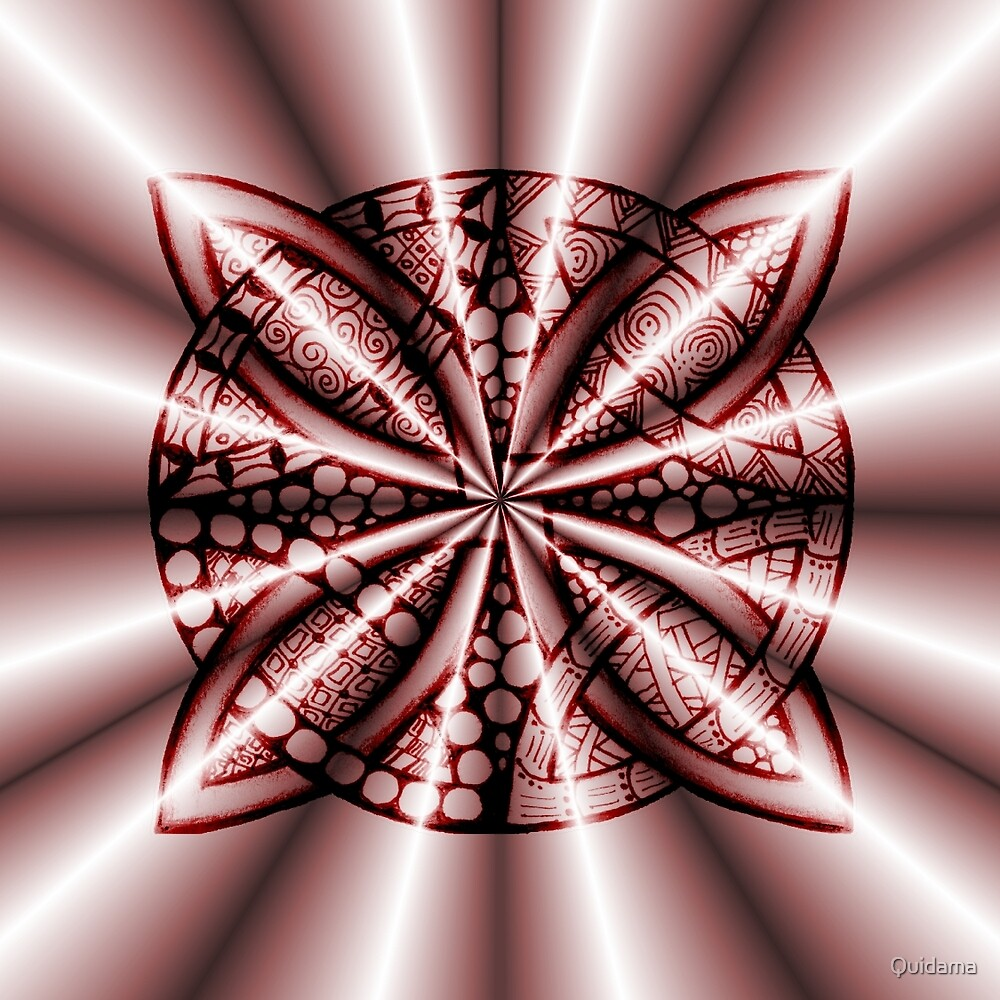 Red Metallic Celtic Knot by Quidama