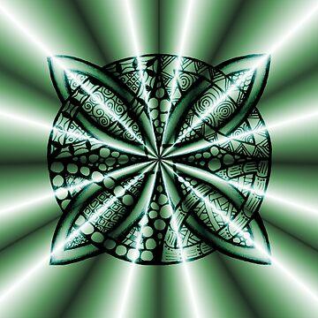 Green Metallic Celtic Knot by Quidama