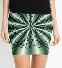 Green Metallic Celtic Knot Mini Skirt