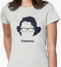 Flannery O' Connor (Hirsute History) Women's Fitted T-Shirt