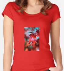 Japanese Red Maple Women's Fitted Scoop T-Shirt