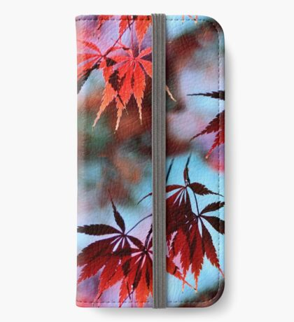Japanese Red Maple iPhone Wallet