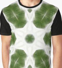 Green White Kaleidoscope Art 6 Graphic T-Shirt