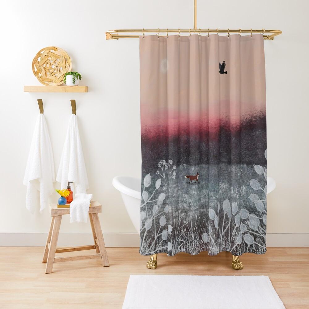 Frosty Dawn Shower Curtain