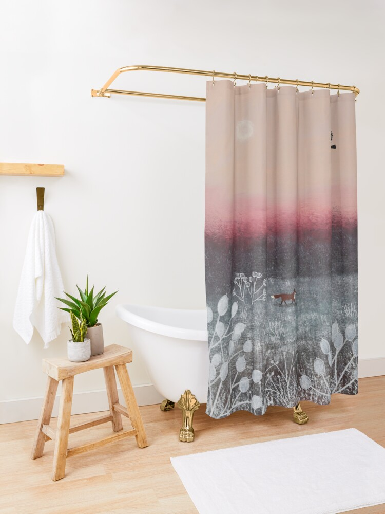 Alternate view of Frosty Dawn Shower Curtain