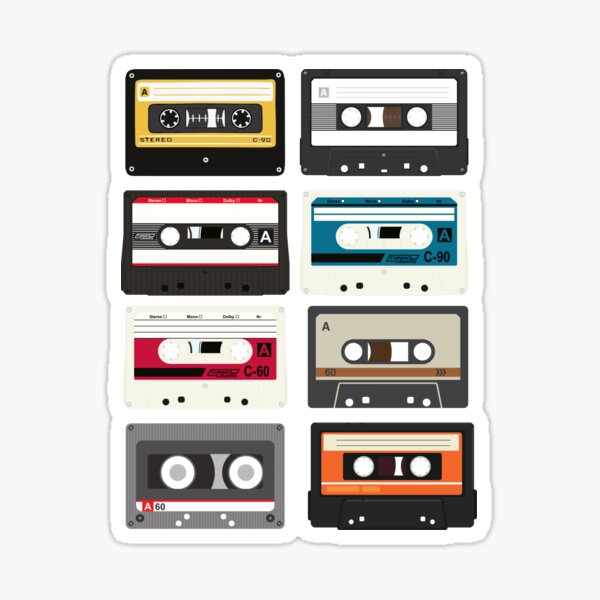 Cassette Tapes Sticker