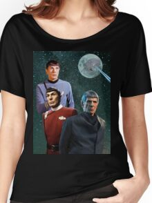 Three Spock Moon Women's Relaxed Fit T-Shirt