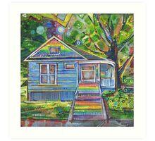 Rainbow house Art Print