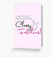Classy and Fabulous! Greeting Card