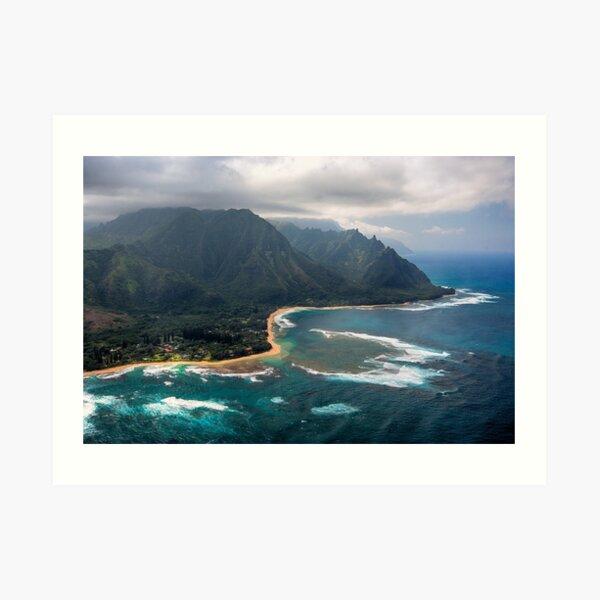 Tunnels Beach - Kauai Art Print