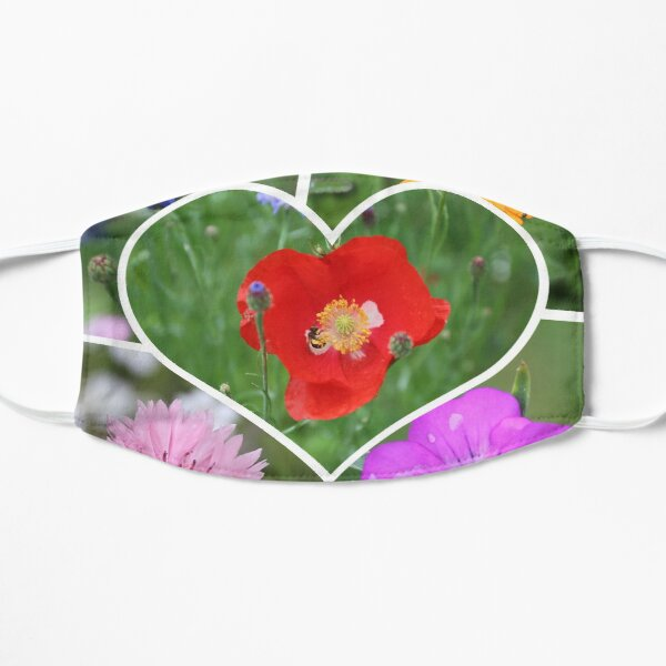 My Heart is Filled with Flowers Photo Collage Mask