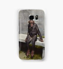 """""""Mary"""" on a bench with a pipe, ca 1940 Samsung Galaxy Case/Skin"""