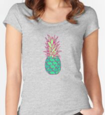 Colorful Pineapple Women's Fitted Scoop T-Shirt