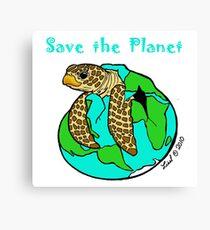 Turtle Earth Canvas Print