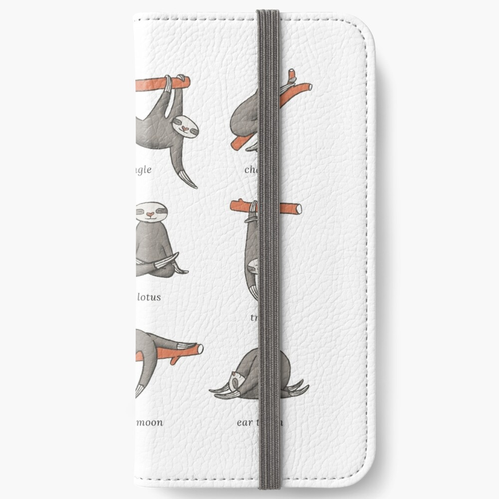 Sloth Yoga - The Definitive Guide iPhone Wallet