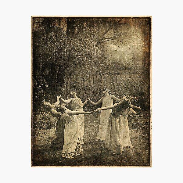 Ritual circle dance, pagan girls Photographic Print