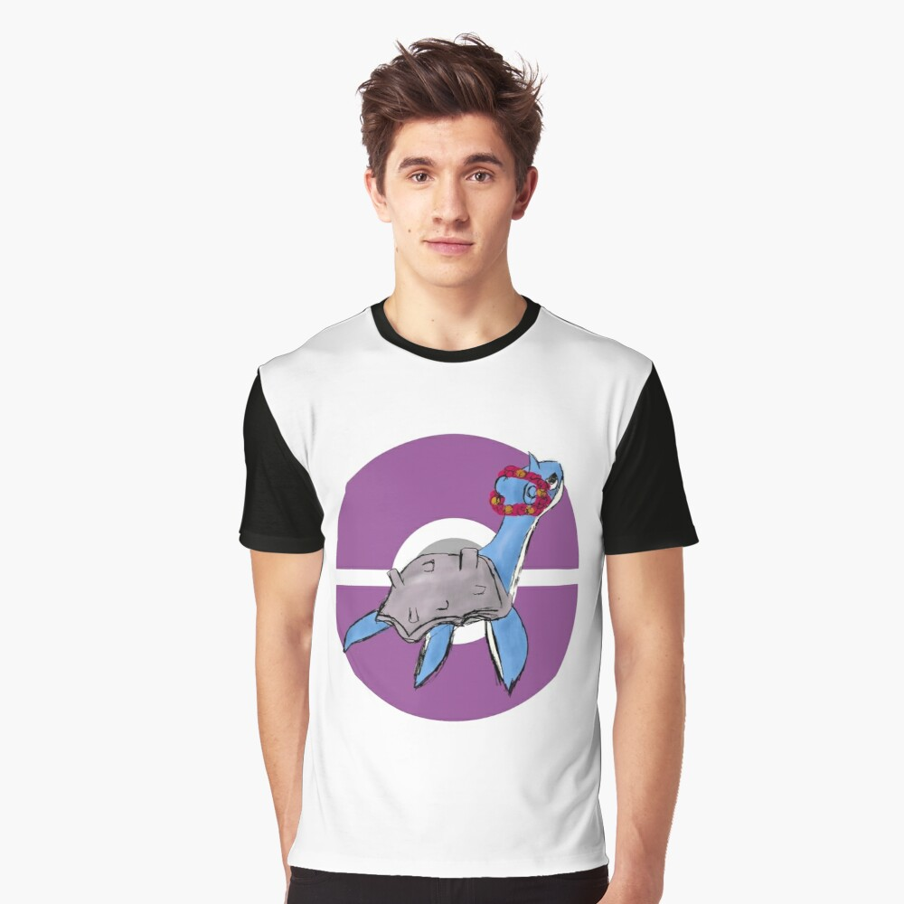 Lapras with Flower Crown Graphic T-Shirt Front