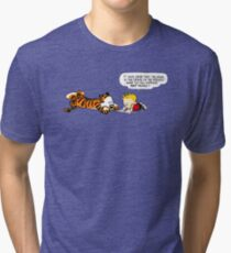 Calvin And Hobbes : Discussion Tri-blend T-Shirt