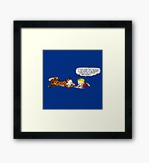 Calvin And Hobbes : Discussion Framed Print