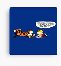 Calvin And Hobbes : Discussion Canvas Print