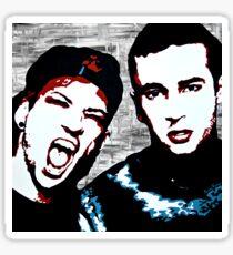 TJ + JD Painting - Original background Sticker