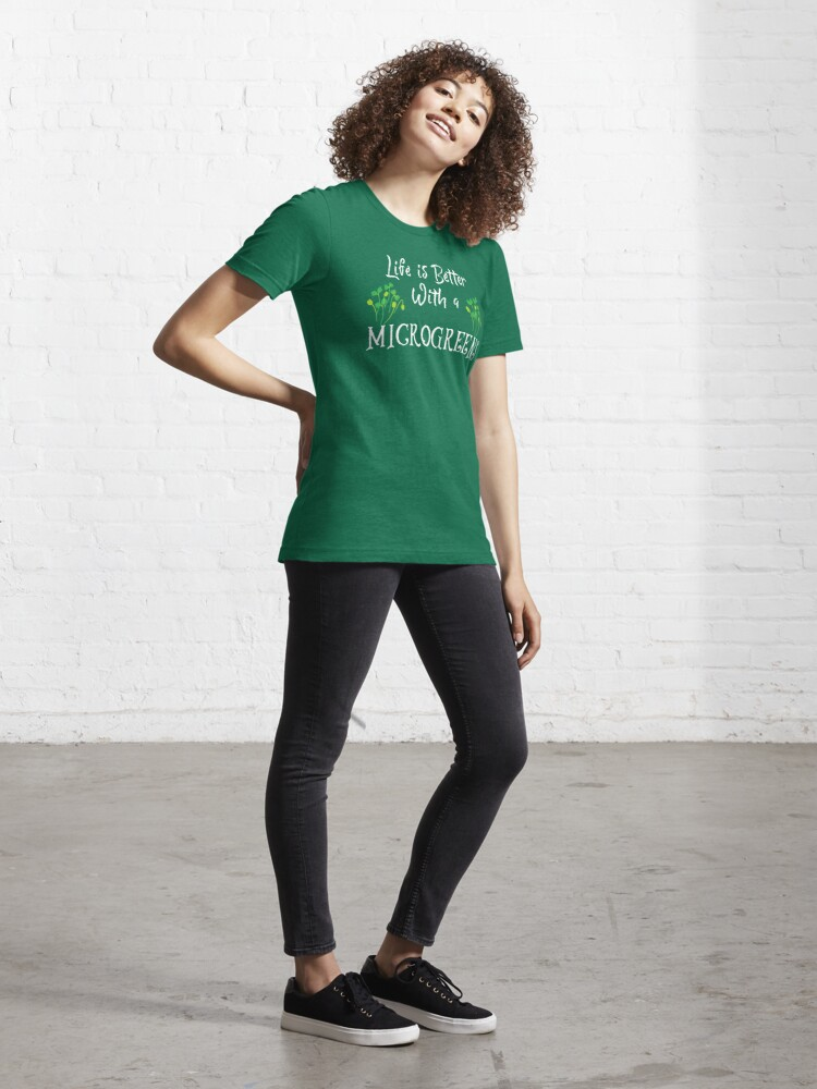 Alternate view of Microgreens, Life is better with a microgreens Essential T-Shirt