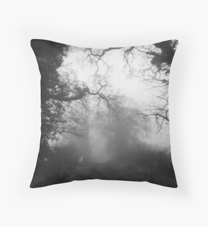 Mist in the Trees  Throw Pillow