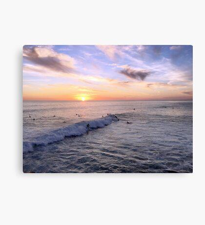 California Sunset Surfers Canvas Print
